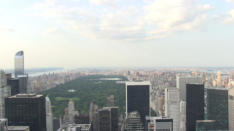 Central Park from Skyscraper Stock Video Footage