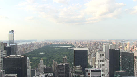 Central Park From Skyscraper stock footage