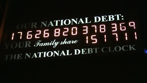 National Debt Clock Footage