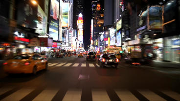 Times Square Night Master stock footage