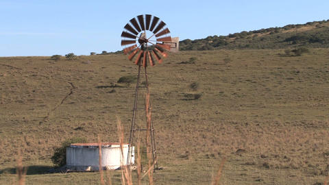 Old windmill in countryside Footage