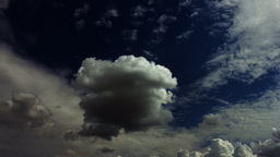 Dramatic Dark Clouds Forming Timelapse stock footage