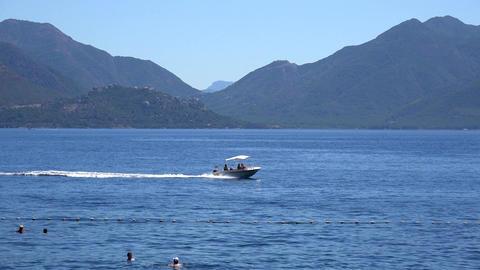Boat floats on the Turkish coast Footage