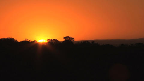 Sunset in the wilderness Stock Video Footage