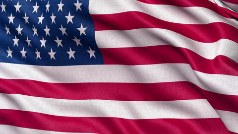 4K Flag of America seamless loop Ultra-HD Animation