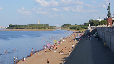 Heihe Heilongjiang River Beach 02 Footage