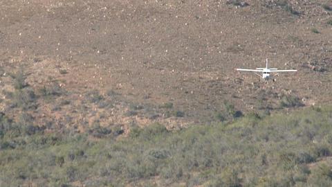 Small Aeroplane Is Landing Footage