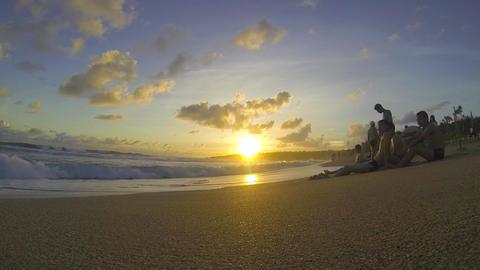 Kenting Baisha Bay (White Sand Bay) - magic hour p Stock Video Footage