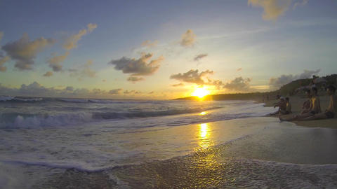 Kenting Baisha Bay (White Sand Bay) - magic hour p Stock Video Footage