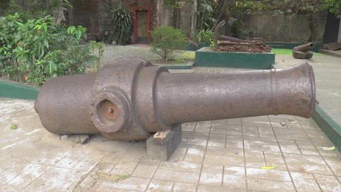 huge cannon pan shot Footage