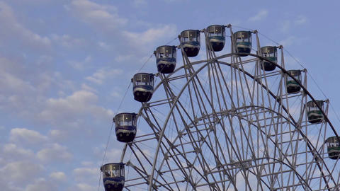 giant ferris wheel close up Stock Video Footage