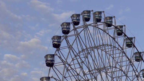 Giant Ferris Wheel Close Up stock footage