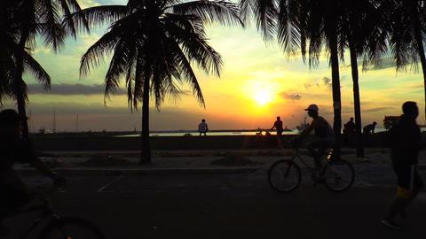manila bay sundown Stock Video Footage