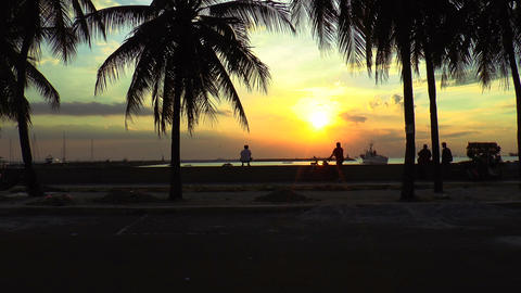 manila bay sundown Footage