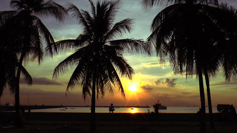 manila bay sunset Footage