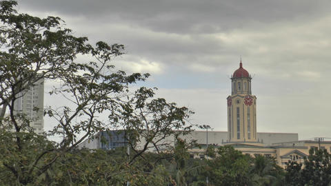 Manila City Hall Tower Clock stock footage