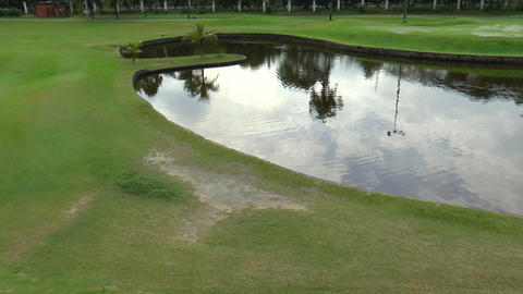 Golf Course Pond stock footage