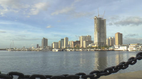 Manila Harbor Square Time Lapse stock footage