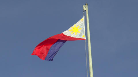 huge philippines flag Footage