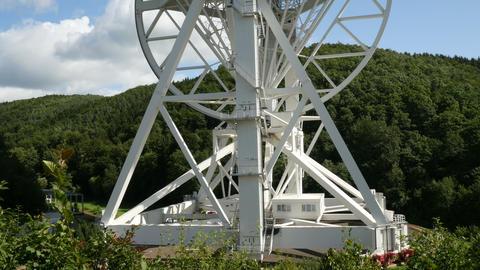 4k UHD large radio telescope tilt 11488 Stock Video Footage