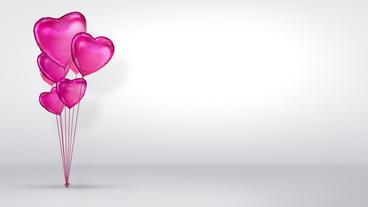 Baloon Hearts stock footage