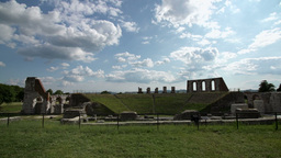 Panoramic View Archeological Site Italy Stock Video Footage