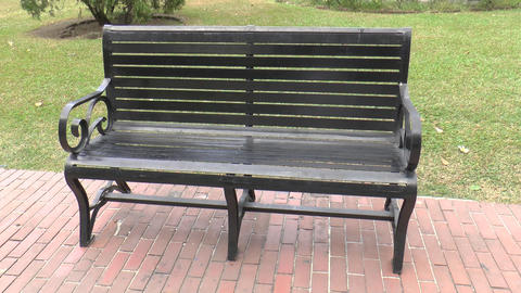 old style bench at the park Footage