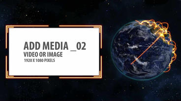 Space and Earth Media Panels (Orange 2) After Effects Template