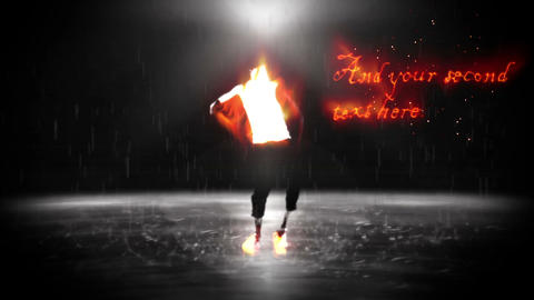 Fire & Rain Dance Sequence After Effects Template
