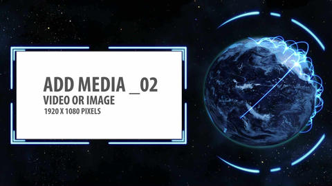 Space and Earth Media Panels 4 After Effects Template