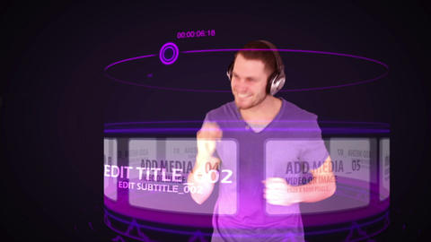 Browsing Music and Dancing (Purple) After Effects Template