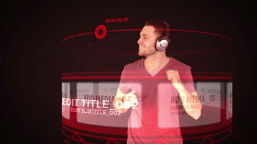 Browsing Music and Dancing (Red) After Effects Template