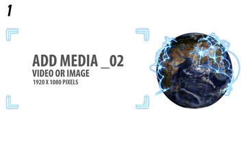 Space and Earth Media Panels (2 Projects) After Effects Template