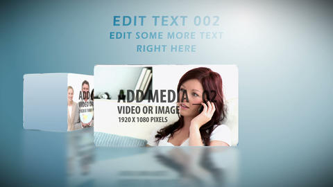 Sliding Media Boxes After Effects Template