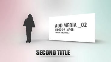 Light Background Silhouettes After Effects Template