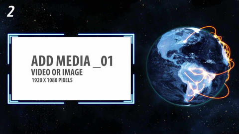 Space and Earth Media Panels (3 projects) After Effects Template