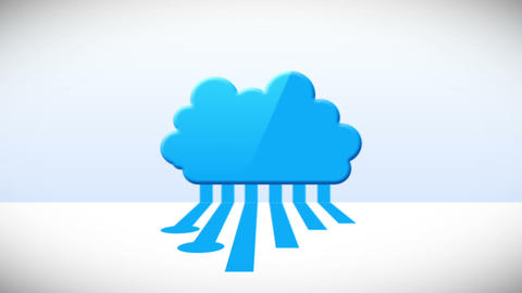 Runny Cloud Computing After Effects Template