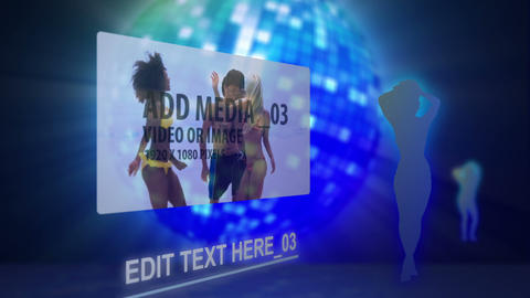 Disco Silhouette After Effects Template