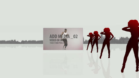 Formation urban silhouettes dancers After Effects Template