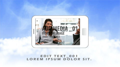 Cloudy Smartphone Sequence After Effects Template