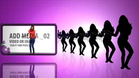 Paparazzi dancing silhouettes After Effects Template