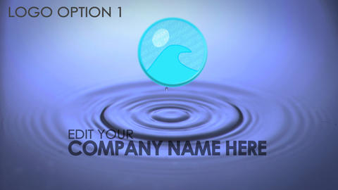 Water Drop Logo After Effects Template