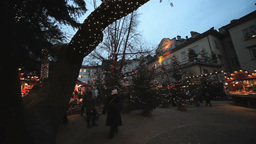 Editorial Christmas Market In Alto Adige Italy Lig Stock Video Footage
