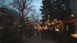 Editorial Christmas Market In Alto Adige Italy Pan Footage