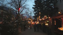 Editorial Christmas Market In Alto Adige Italy Pan Footage