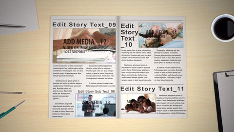 Newspaper/Magazine After Effects Template
