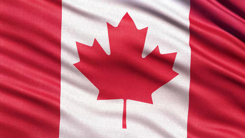 4K Flag of Canada seamless loop Ultra HD Animation