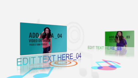 Colourful Music Media Display After Effects Template