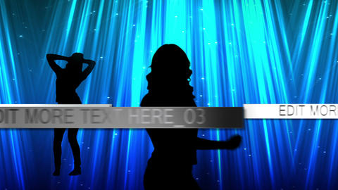 Silhouette Dancers With Text Display After Effectsテンプレート