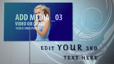 Swinging Media After Effects Template